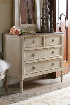 distressed wood, decor, versaill mirror, dresser, soft surroundings, homes, french furniture, vintage inspired, bedroom