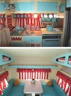 MaryJanesFarm Farmgirl Connection - Camping, vintage trailer style