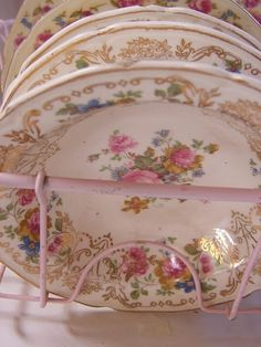 Beautiful, antique dishes.