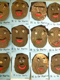 M is for Martin! :) holiday, classroom, idea, craft, januari, kindergarten lessons, martin luther, art projects, luther king