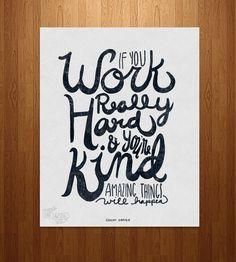 Amazing Things Typography Art Print | Art Prints | Nan Lawson | Scoutmob Shoppe | Product Detail