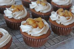 Hard cider cupcakes with fireball whiskey icing