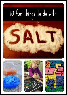 10 Fun Things to Do With Salt plus some science and facts about it.  Check out floating eggs, crystals, and salted caramel!
