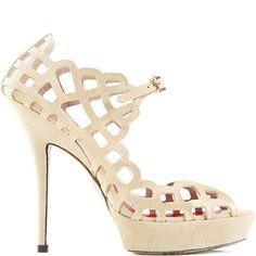 Cesare Paciotti textured leather sandal