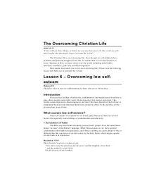 overcoming low self esteem pdf