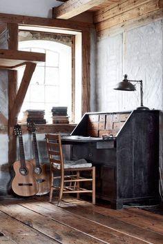 decor, wood, floors, vintage, offic