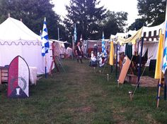 Where I live at Pennsic.  That's my pavillion there on the left.  :)