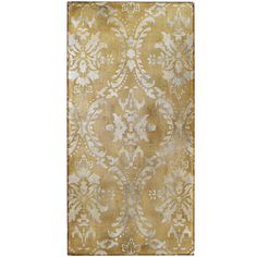 Pier 1 Shimmering Damask Wall Art is hand-painted on canvas in shimmering shades of silver and charcoal