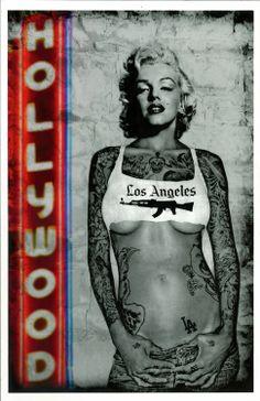 Marilyn Monroe Tattoo Print 11x17. $15.00, via Etsy.