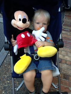 Corey's first Mickey Mouse!  He sleeps with it every night and it's signed by the mouse himself!@Donna Suh Wageman Tourist