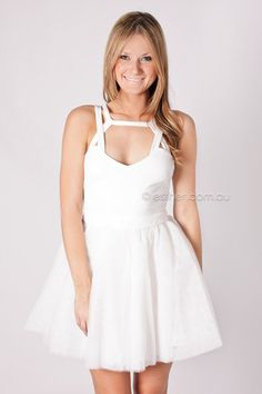 merry cocktail dress - white