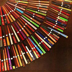 Será por colores.... #chopsticks #palillos #itadakimasu