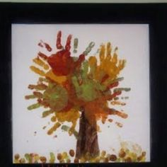 autumn tree, family trees, school crafts, fall crafts, hand prints, craft ideas, kid