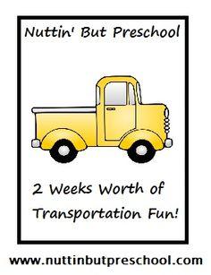 » Theme: Transportation Nuttin' But Preschool