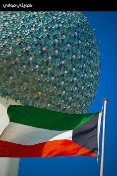 Kuwait Towers  Kuwait Flag