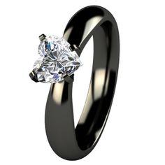 black wedding ring for women titanium | Fashion Liness