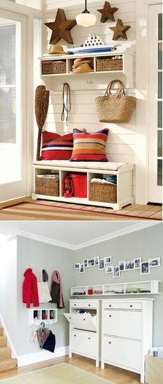 DIY Mudroom And Hallway Storage Ideas