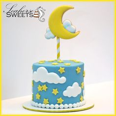 Moon and Stars Cake - Seahorse Sweets