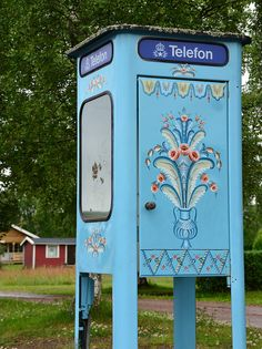Old swedish telephone booth