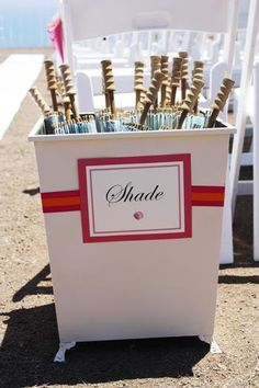 #beach #wedding #umbrellas