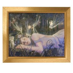 Sleeping with the Fairies Framed Print - New Age, Spiritual Gifts, Yoga, Wicca, Gothic, Reiki, Celtic, Crystal, Tarot at Pyramid Collection