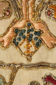 Stockings, 16th century, Italian, Metropolitan Museum of Art (10.124.5 & 10.124.6)