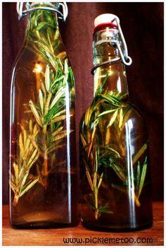 Natural Tick Repellant, Rosemary Infused Kombucha Vinegar. Works with apple cider vinegar too.