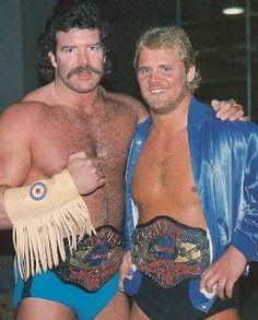 Scott Hall and Curt Hennig. AWA World Tag-Team Champions