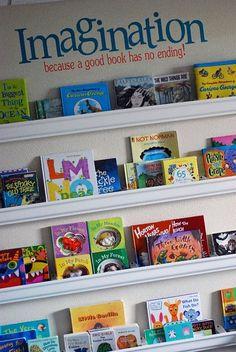 awesome rain gutter book shelves