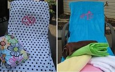 monogrammed lounge chair cover $49.99