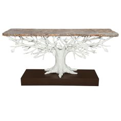 """Arbre"" Sculptural Console Table,  By Alexandre Logé. 