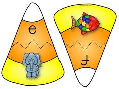 Halloween Candy Corn Alphabet Math