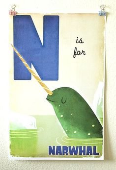 n is for #narwhal.