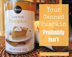 Your Canned Pumpkin Probably Isn't