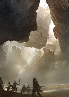 Desert Rocks Concept Art