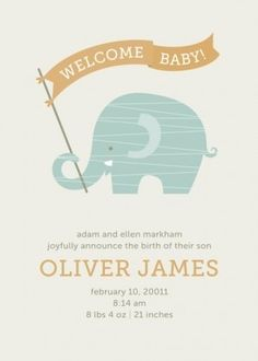 Baby Announcement by verna