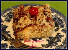Sweet Tea and Cornbread: Fruit Cocktail Cake...a Blast from the Past!