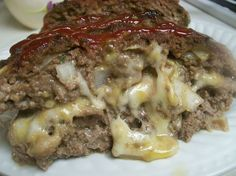 Cheese-stuffed meatloaf - switch out the cracker crumbs and you're good