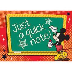 Mickey Mouse Teacher Postcards