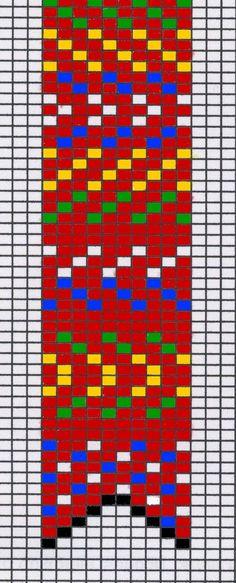 Métis sash loom pattern by jo-the-phoenix on deviantART