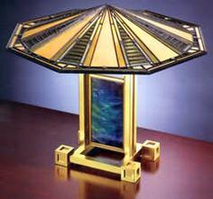 Frank Lloyd Wright lamp. The Dana-Thomas House. Springfield IL