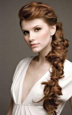romantic braid wedding hairstyle