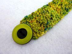 Lime green crochet bracelet