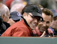 Beantown native Matt Damon cheered on the Boston Red Sox as they played in the World Series versus the St. Louis Cardinals at Fenway Park in Boston.