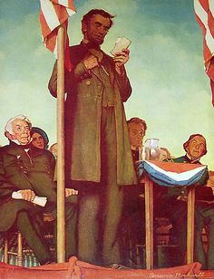 Gettysburg Address - by Norman Rockwell