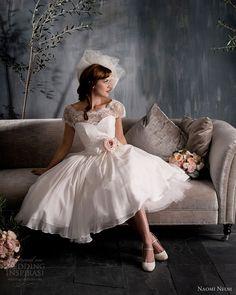 naomi neoh 2012 2013 scarlett tea length wedding dress lace jacket