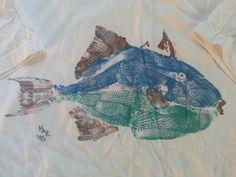 National Marine Center fish print/rubbing. Very cool.