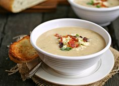 Cauliflower &'Gruyere Soup