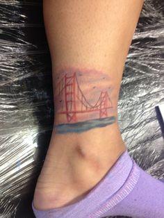 Golden Gate Bridge // San Francisco, California // Tatoo