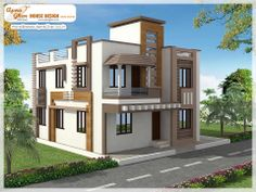 4 Bedrooms Duplex House Design  Like, share, comment. click this link to view more details - http://www.apnaghar.co.in/search-results.aspx